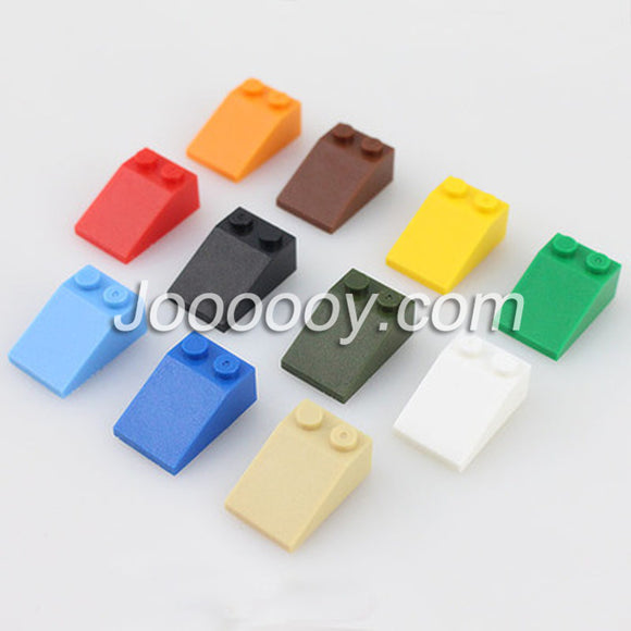 10 pcs 2*3 slopes MOC bricks