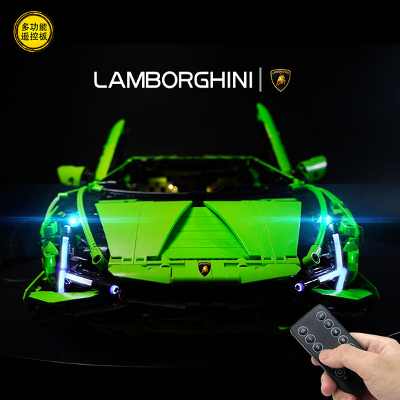 DIY LED Light Up Kit For Lamborghini Sian remote control KING 81996 LG42115