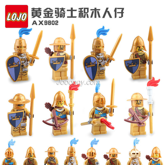 LOJO  AX9802 Golden Knight Minifigure