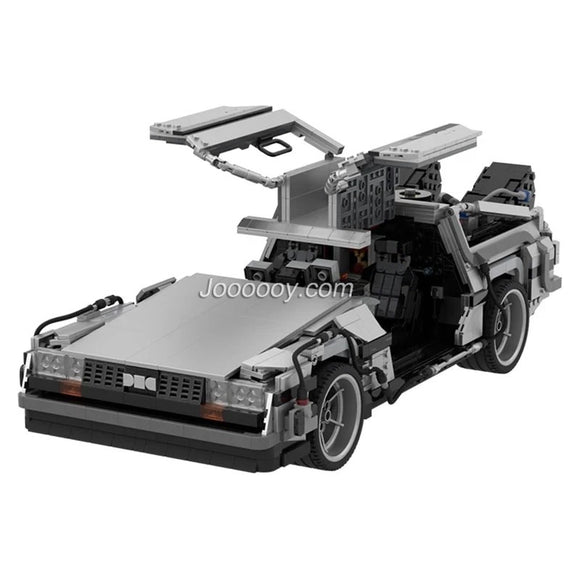 2853pcs MOC-42632 Back to the Future 1985 DeLorean Time Machine