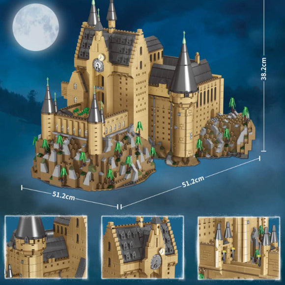 6188PCS S7317 Hogwarts Castle Fountain Square