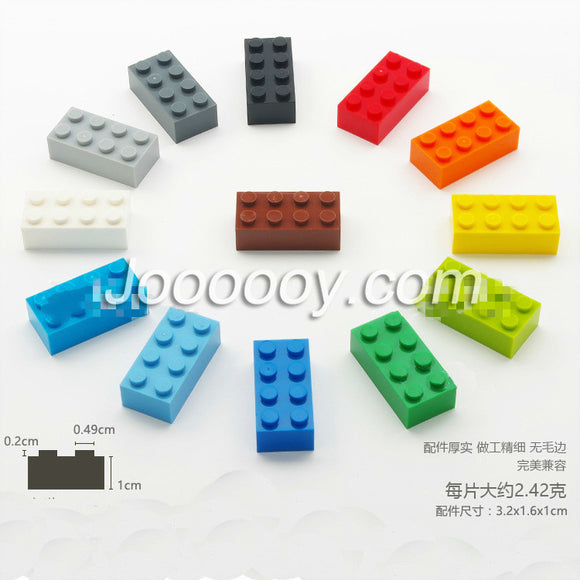 10pcs 2*4 bricks MOC bricks