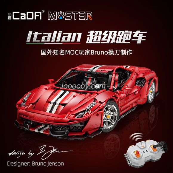 3229PCS CADA C61042 RC Ferrari Pista 488 (with PF)