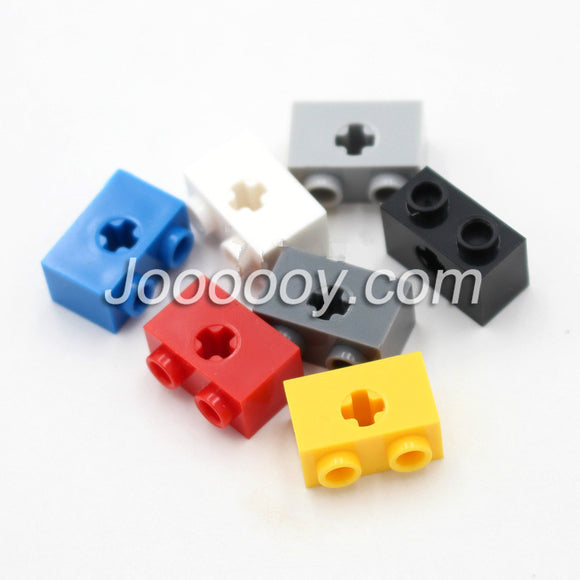 10 pcs 1*2 bricks with axle hole MOC bricks