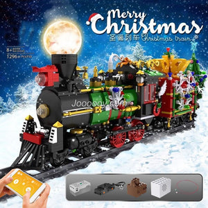 1296PCS Mould King 12012 Christmas train