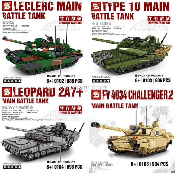 SY 0102 0103 0104 0105 Survival War Large Main Battle Tank