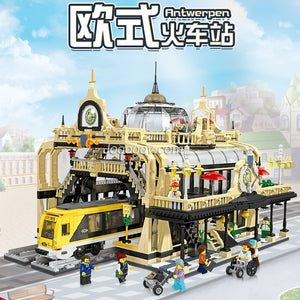 3950PCS JIESTAR 89104 The Train Station: Studgate