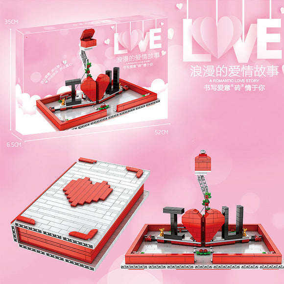 758pcs Mould King 10008  Love confession book