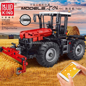 2716PCS MOULDKING 17020 Red tractor 4 in 1