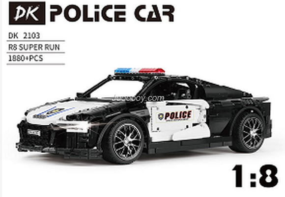 1880PCS DK2103 Black and white police car