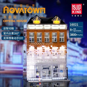3800+pcs Mould King 16021 Crystal House CHANEL Shop with LED kit
