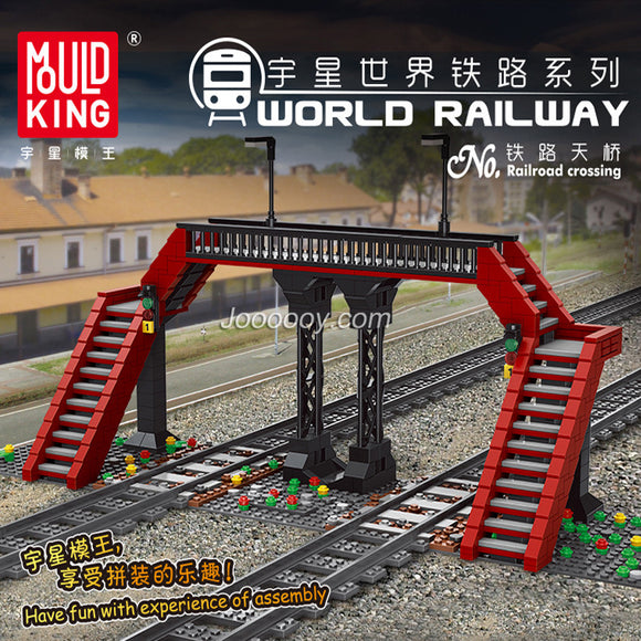 655PCS MOULDKING 12008 Railroad Crossing