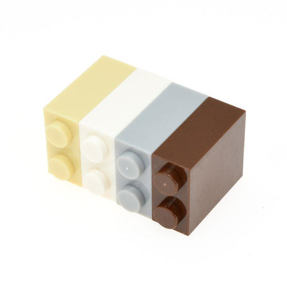 10pcs Brick 1*2*2 moc bricks