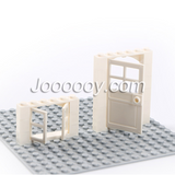 A set of doors and windows MOC bricks