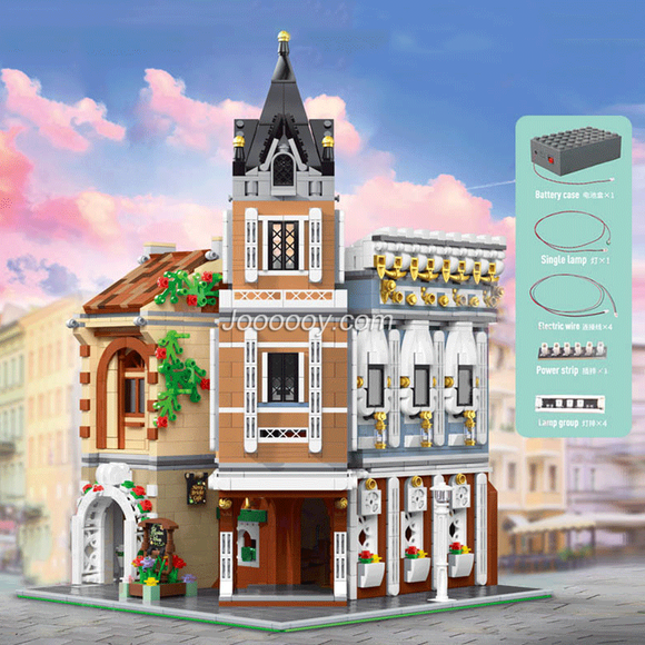 3039PCS MOULDKING 16026 Afternoon Tea Restaurant