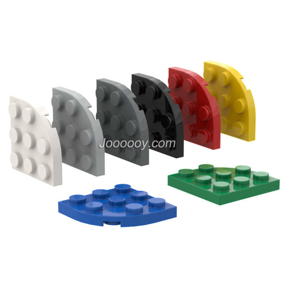 10 pcs 3*3 1/4 circle plates MOC bricks