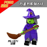 PG8080 Halloween witch vampire skull minifig