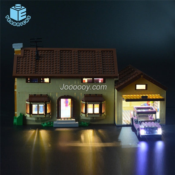 DIY LED Light Up Kit For The Simpsons House 71006