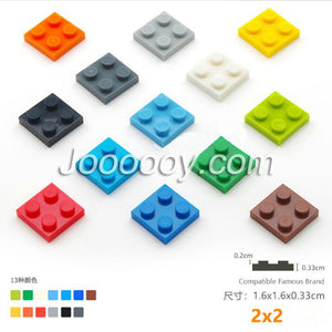 20 pcs 2*2 plates MOC bricks