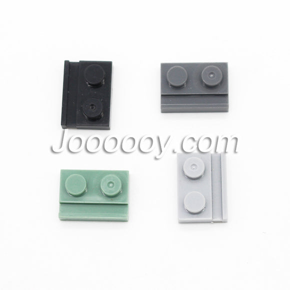 20 pcs 1*2 plates with door rail MOC bricks