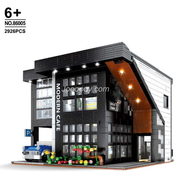 2806PCS 86005 Modern Cafe with lights