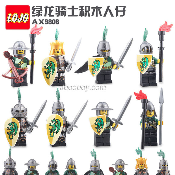 LOJO  AX9806 Green Dragon Knight Minifigure