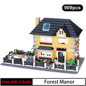 WANGE 34051 Classic Village Manor Villa