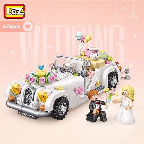 676PCS LOZ1119 Wedding Car Mini Bricks