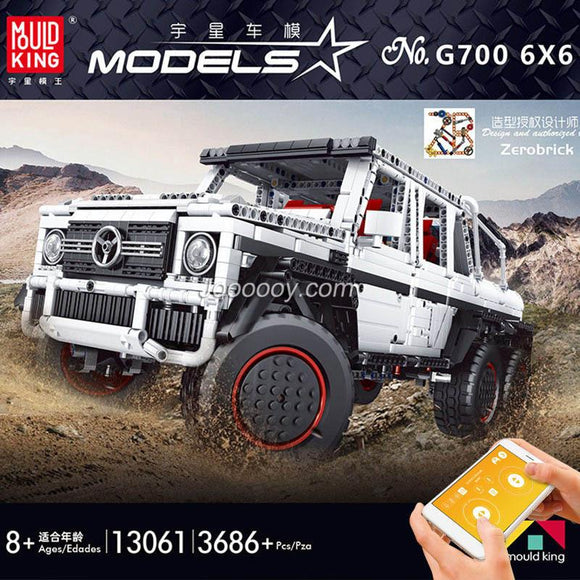 3686PCS MOULDKING 13061 Mercedes-Benz G63 6x6 1:10