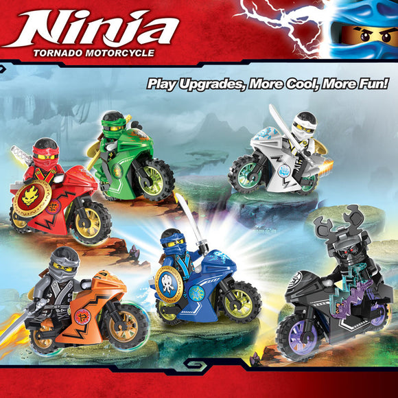 decool 10017-10022 ninja series mini figures