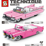 742PCS SY8404 SY8402 Chevrolet pink retro convertible