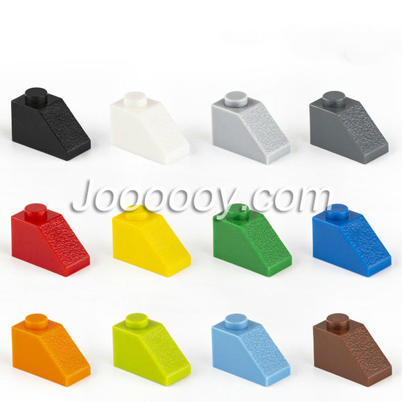 20 pcs 1*2 slopes MOC bricks