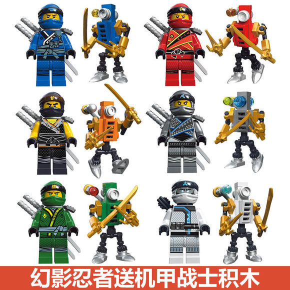 decool 10071-10076 ninja series mini figures