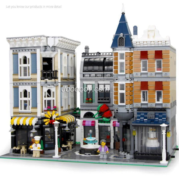 4016PCS  Assembly Square City Creator  Compatible 10255 15019 LJ99007 S7218