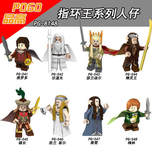 PG8148 The Lord of the Rings Frodo Baggins Gandalf Thranduil Elrond Galadriel Merry Building Blocks