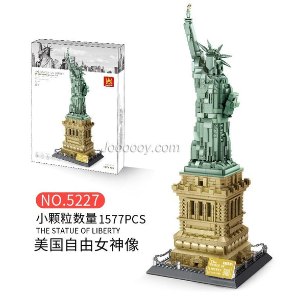 1575pcs WANGE 5227 Statue of Liberty
