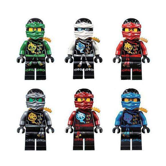 decool 10023-10028 ninja series mini figures