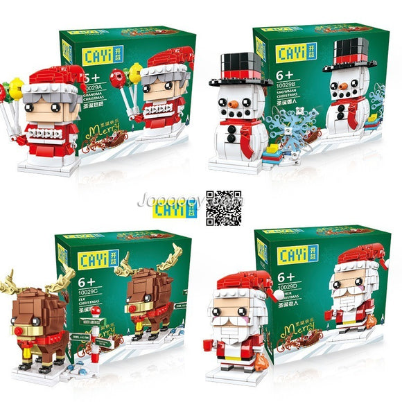 CAYI 10029ABCD Christmas Minifigure Suit