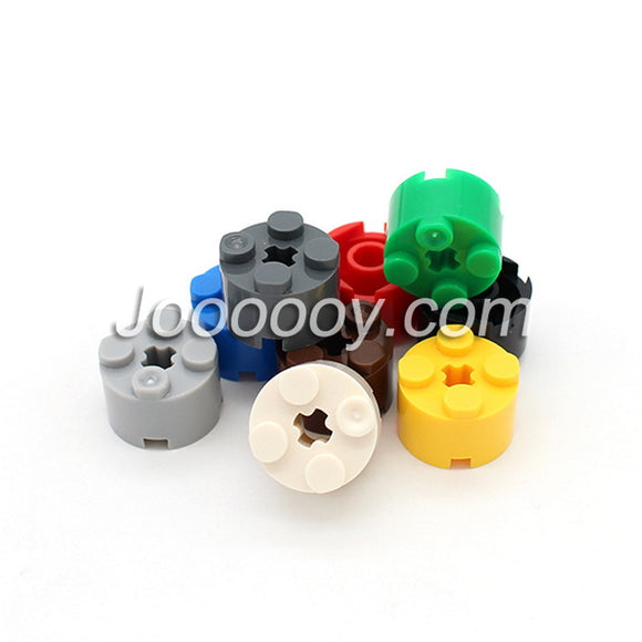 10 pcs 2*2 round bricks with axle hole MOC bricks
