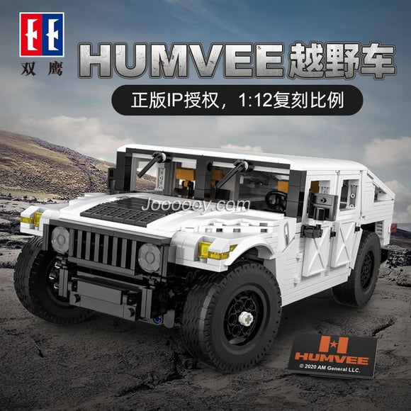 1386PCS CADA C61027 HUMVEE Off-Road Vehicle 1:12