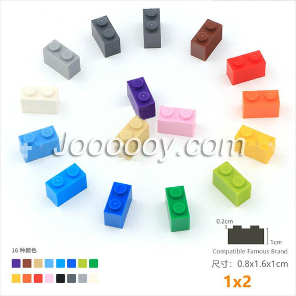 20 pcs 1*2 bricks MOC bricks