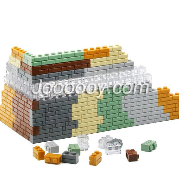 20 pcs 1*2 wall bricks MOC bricks