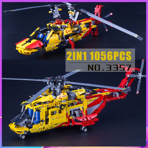 Decool 3357 Technic Helicopter  2in1 Model