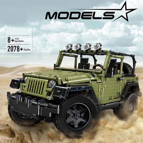 Mould King 13124  2078PCS RC 1:8 WRANGLER