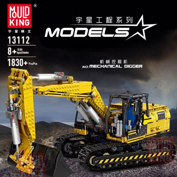 Mould King 13112 RC Excavator Mechanical Digger