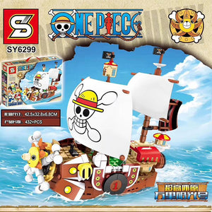 432+pcs SY 6299 MIni One Pieces Thousand Sunny Ship