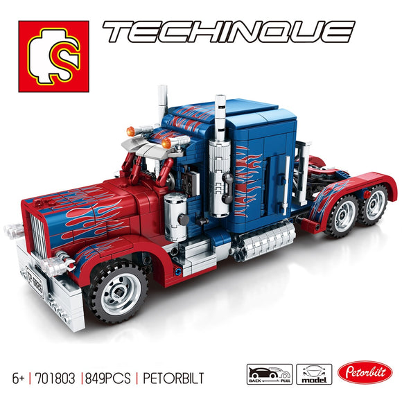 Sembo Blocks 701803 Peterbilt 389 Trucks Compatible Technic Optimus Prime