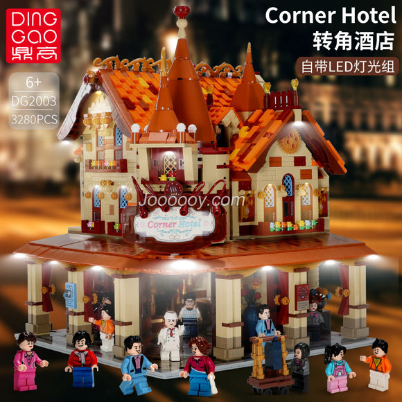 3280PCS DG2003 Corner Hotel with lights