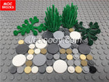 100 pcs 1*1 round flat tiles MOC bricks
