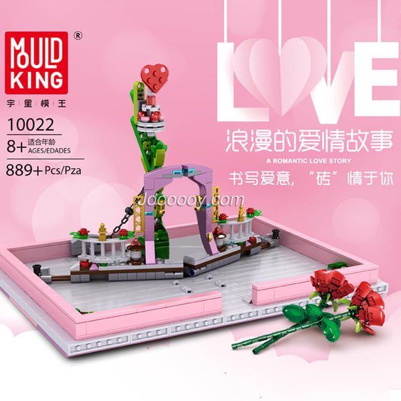 889PCS MOULDKING 10022 A Romantic Love Story